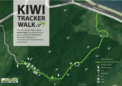 WKT kiwi tracker walk map