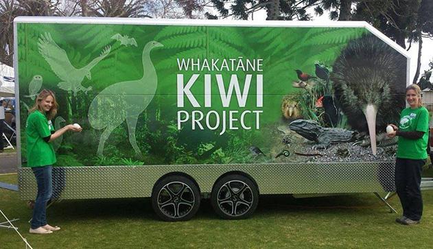 Whakatane Kiwi Project Education Trailer
